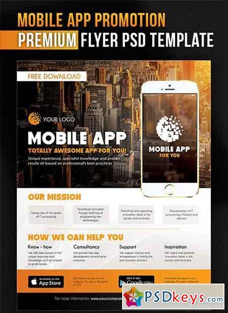 Mobile app promotion flyer psd template facebook cover free mobile app promotion flyer psd template facebook cover pronofoot35fo Images