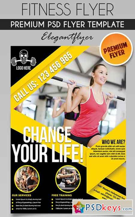 Fitness Flyer Psd Template Facebook Cover Free Download