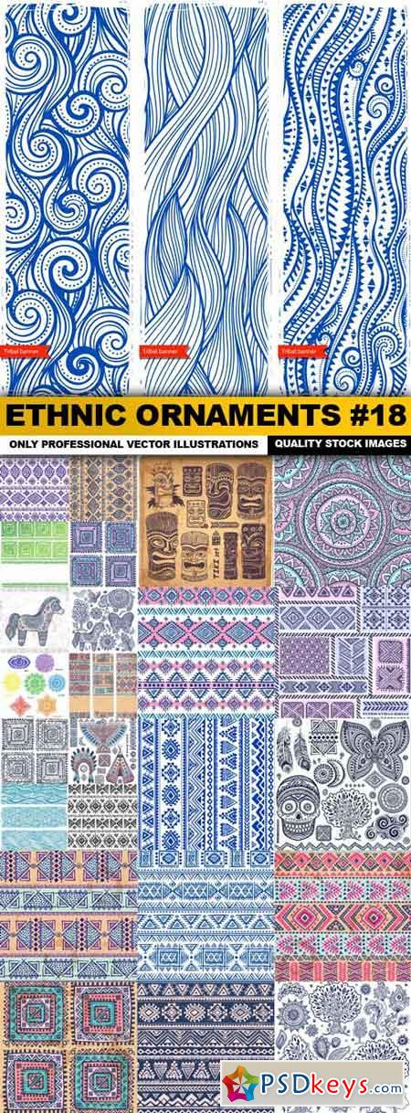 Ethnic Ornaments #18 - 25 Vector