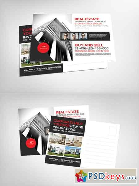 Real Estate Postcard Template 632038