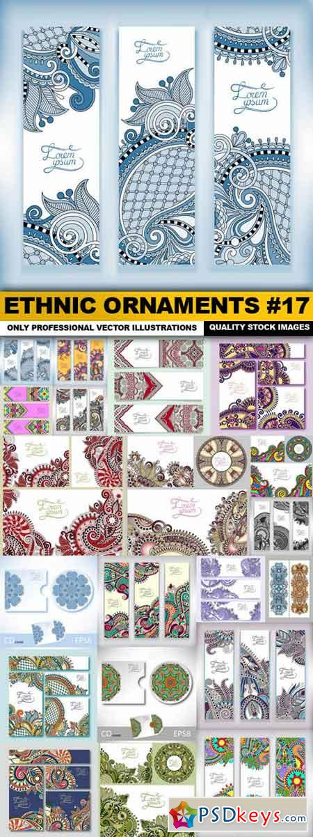 Ethnic Ornaments #17 - 20 Vector