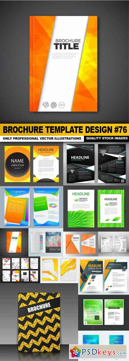 Brochure Template Design #76 - 15 Vector