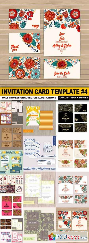 Invitation Card Template #4 - 20 Vector