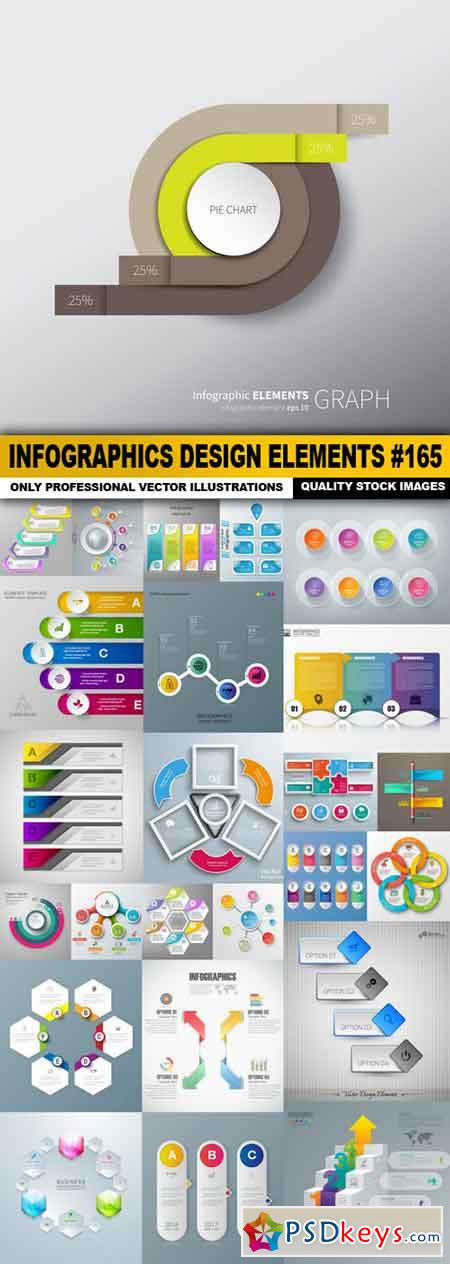 Infographics Design Elements #165 - 25 Vector