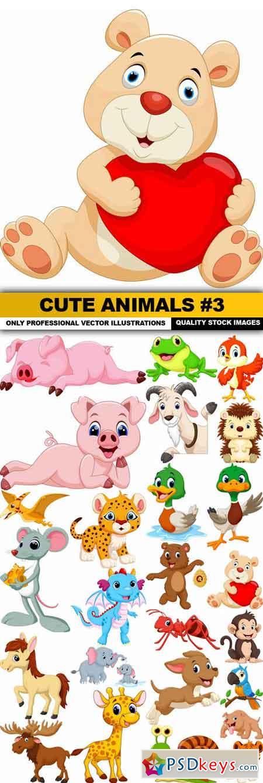 Cute Animals #3 - 25 Vector