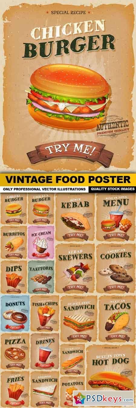 Vintage Food Poster - 22 Vector