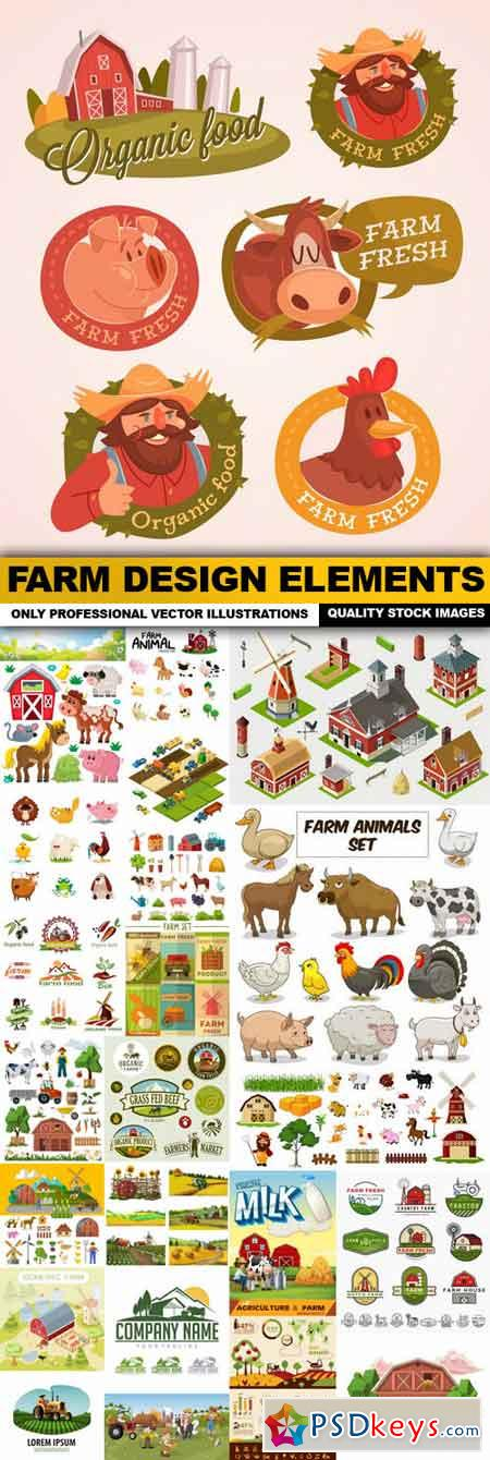 Farm Design Elements - 25 Vector