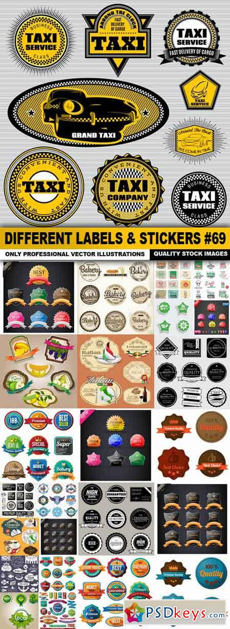 Different Labels & Stickers #69 - 25 Vector