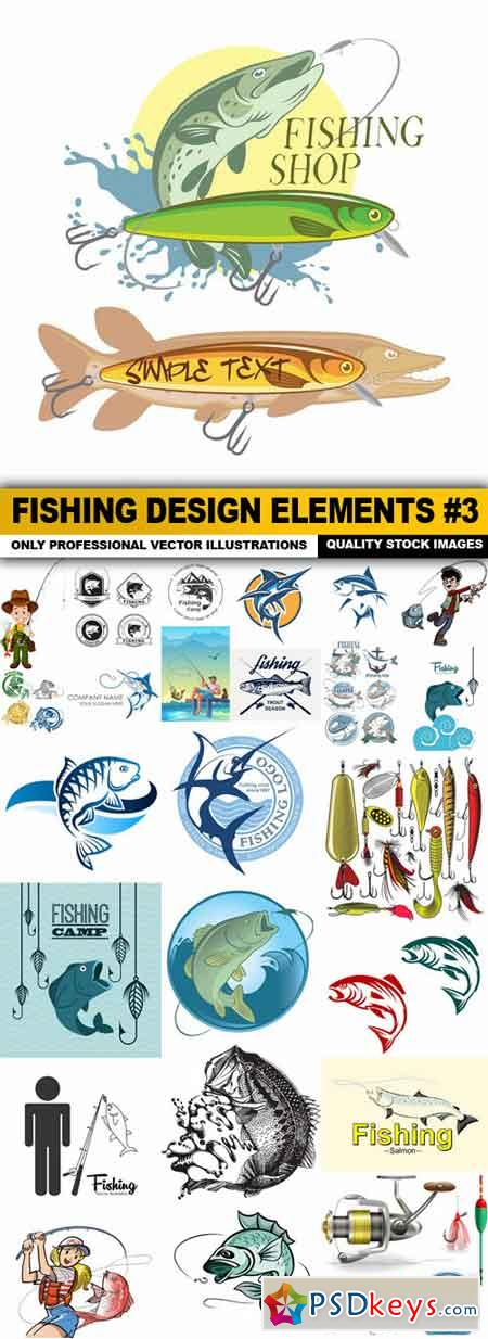 Fishing Design Elements #3 - 25 Vector