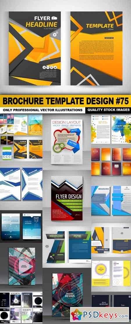 Brochure Template Design #75 - 20 Vector