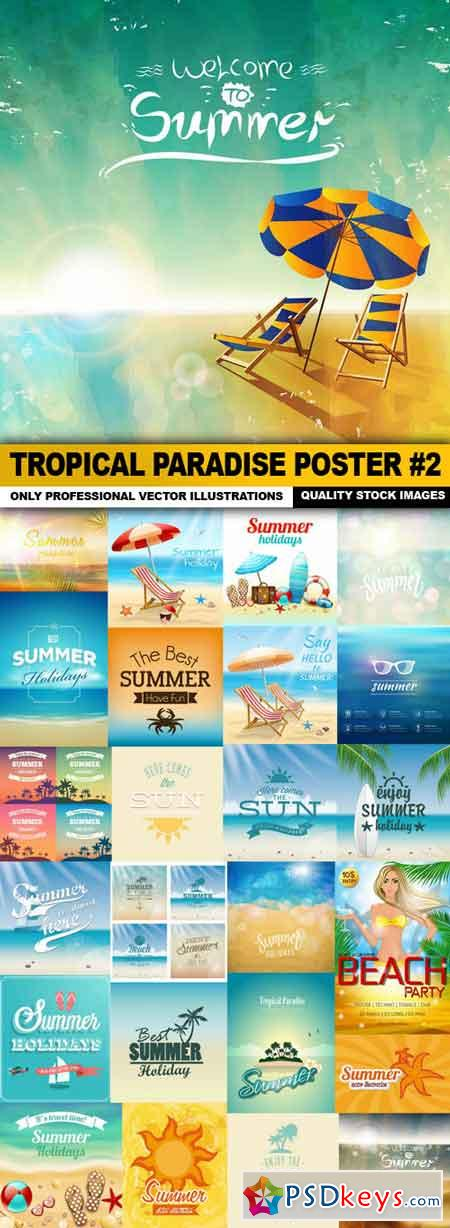 Tropical Paradise Poster #2 - 25 Vector