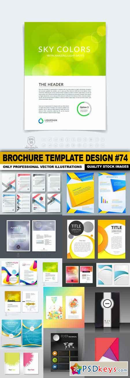 Brochure Template Design #74 - 15 Vector