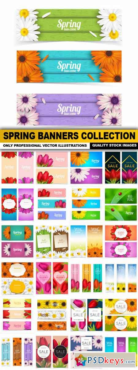 Spring Banners Collection - 25 Vector