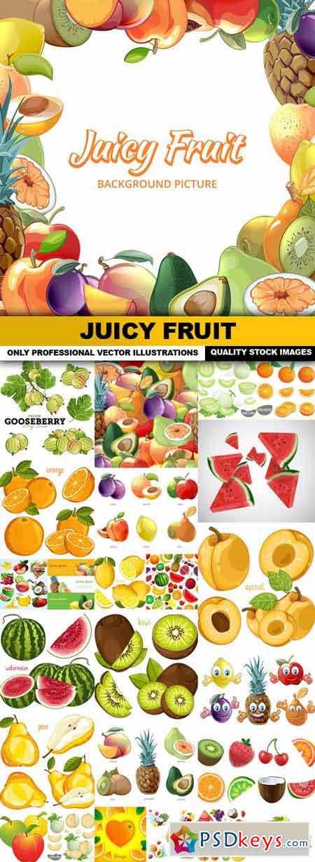 Juicy Fruit - 25 Vector