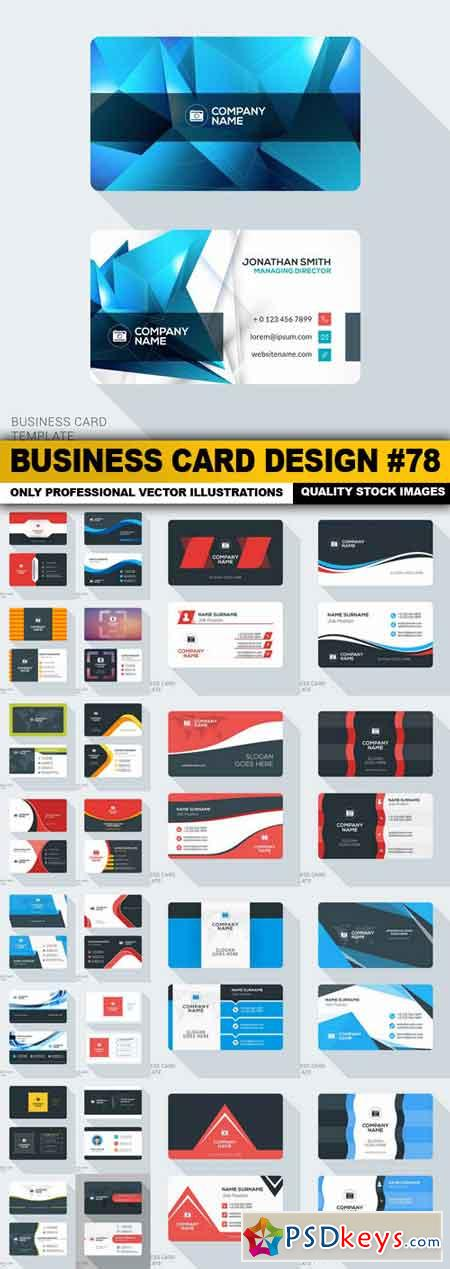 Business Card Design #78 - 25 Vector