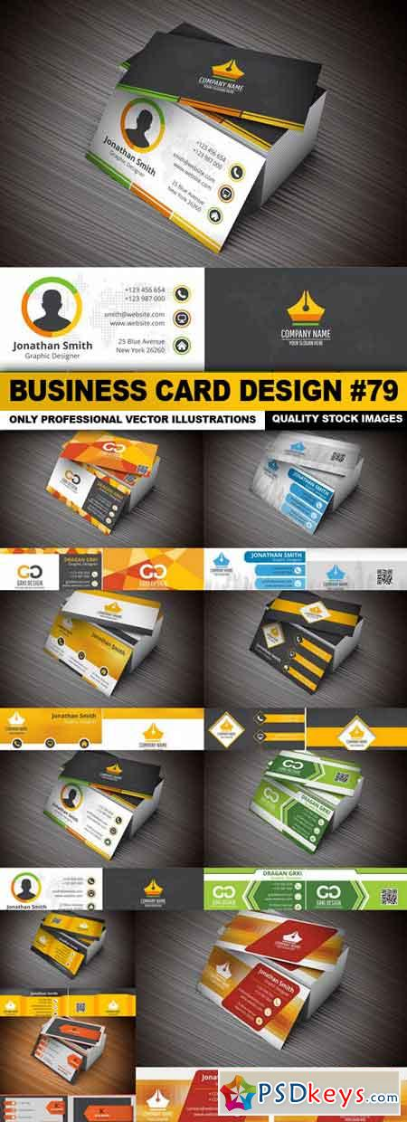 Business Card Design #79 - 9 Vector