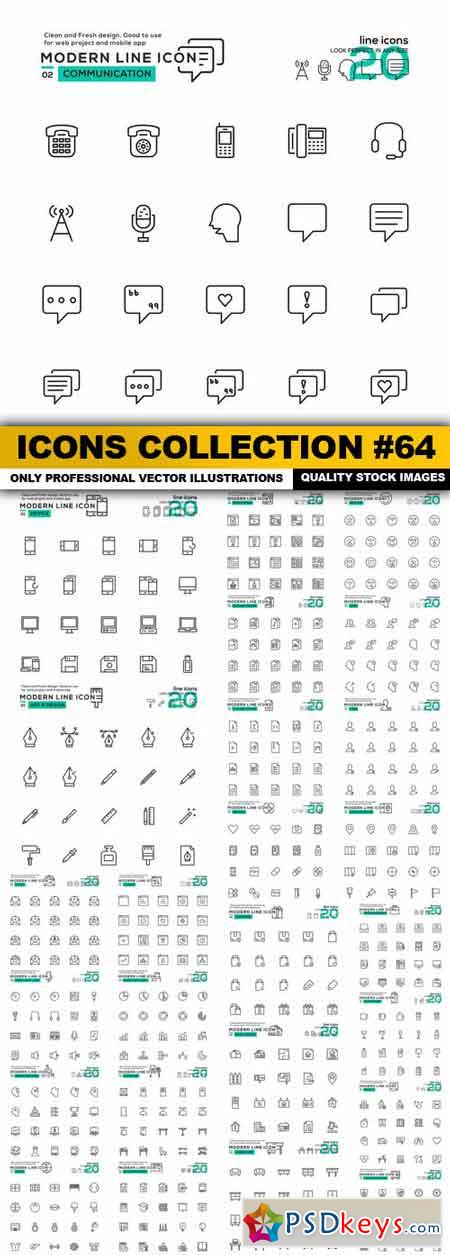 Icons Collection #64 - 26 Vector