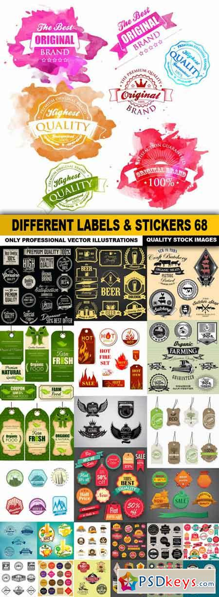 Different Labels & Stickers #68 - 25 Vector