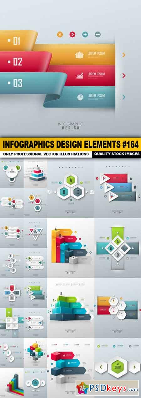Infographics Design Elements #164 - 25 Vector