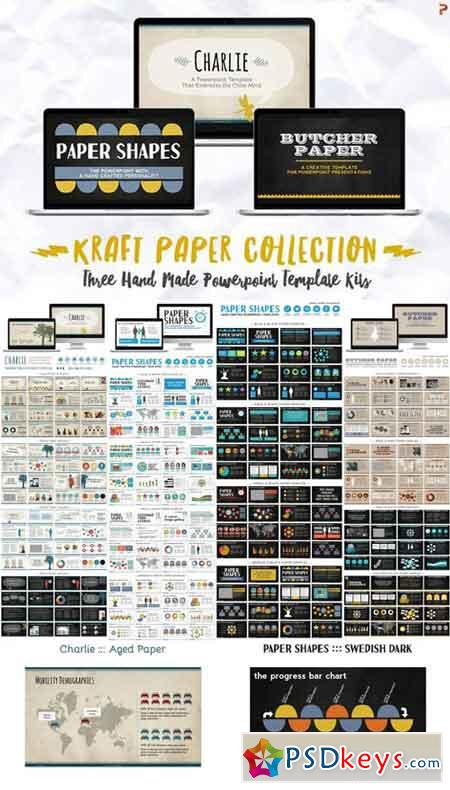 Kraft Paper Powerpoint Collection 647469