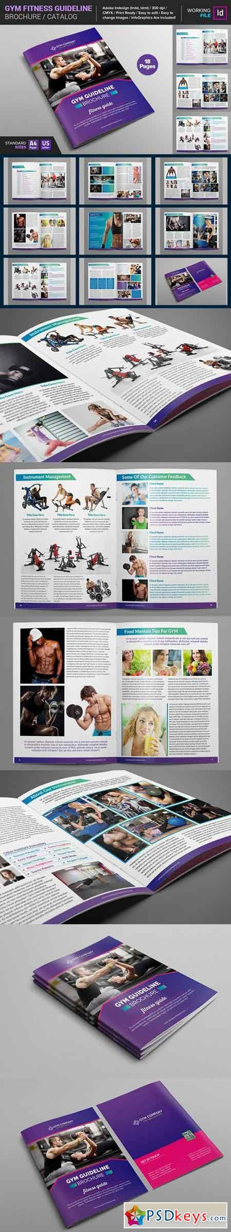 GYM Fitness Guideline Brochure 661851