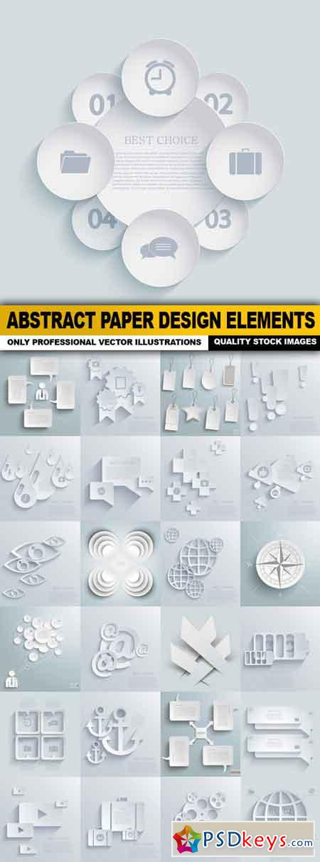 Abstract Paper Design Elements - 25 Vector