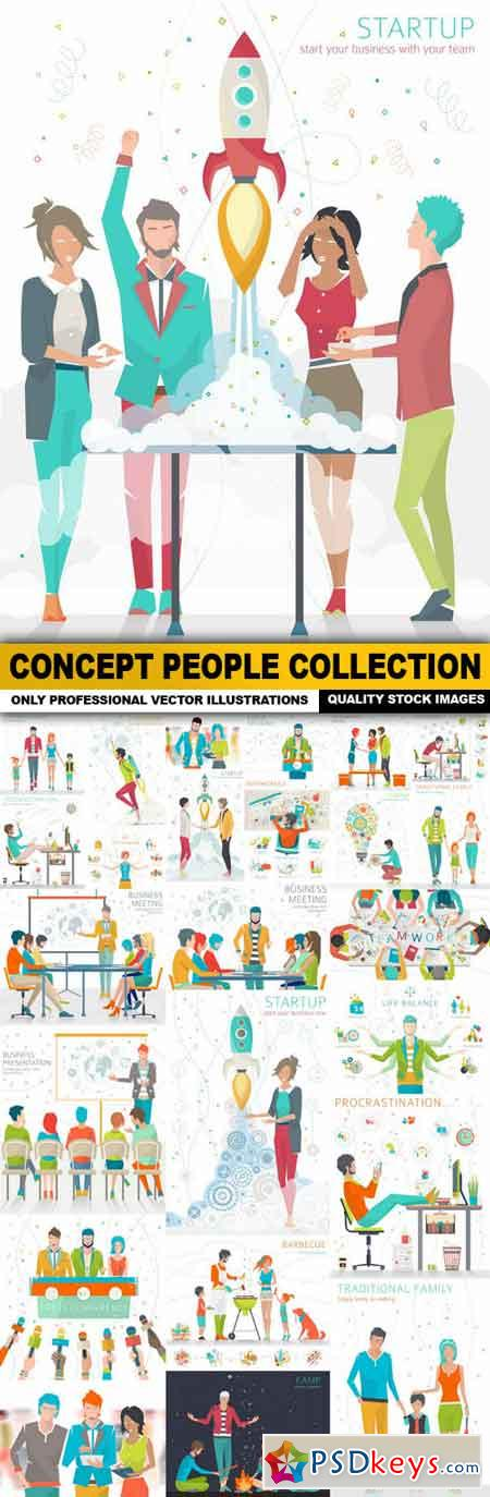 Concept People Collection - 25 Vector
