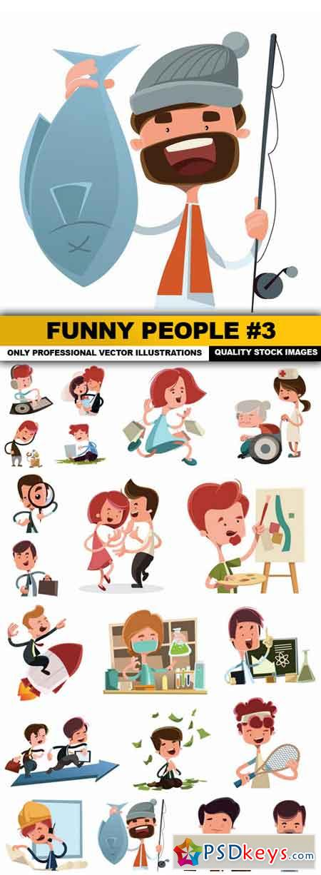 Funny People #3 - 20 Vector