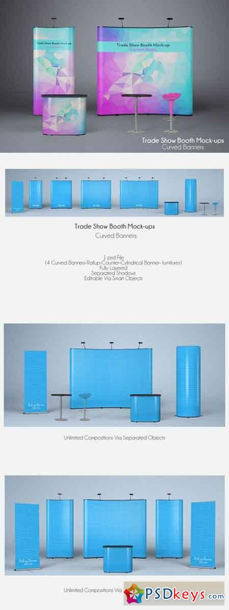 TRADE SHOW BOOTH MOCK-UPS V2 302479 » Free Download Photoshop Vector