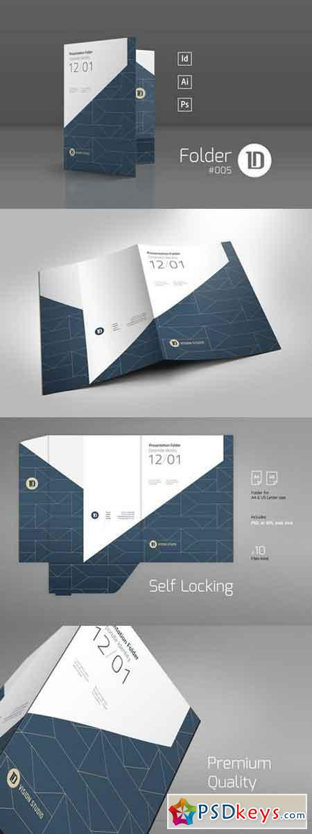 Presentation folder template 005 603882 free download for Pocket folder template illustrator