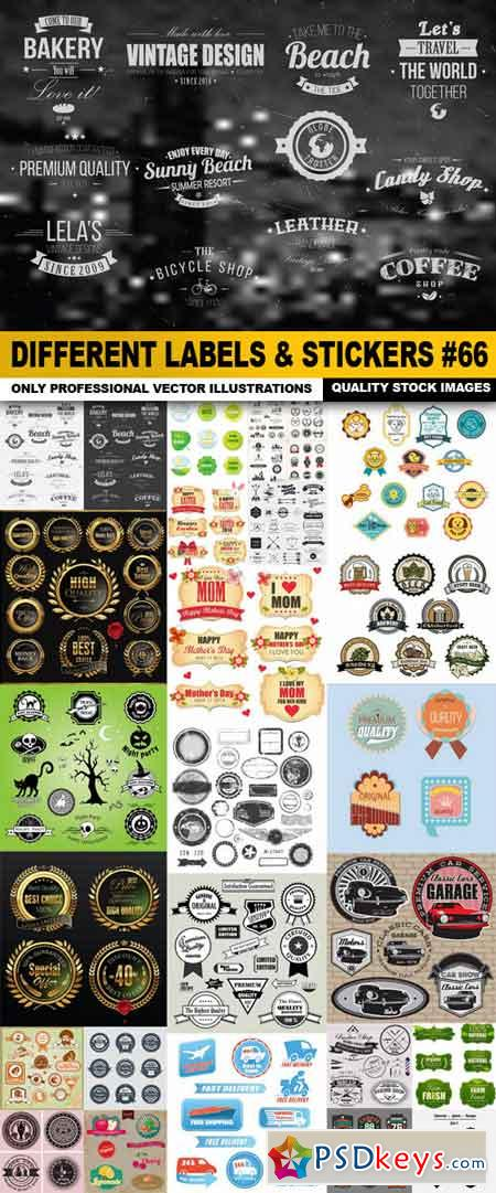 Different Labels & Stickers #66 - 25 Vector