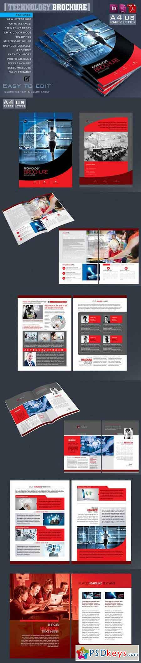 Technology Brochure Catalog Template 664173