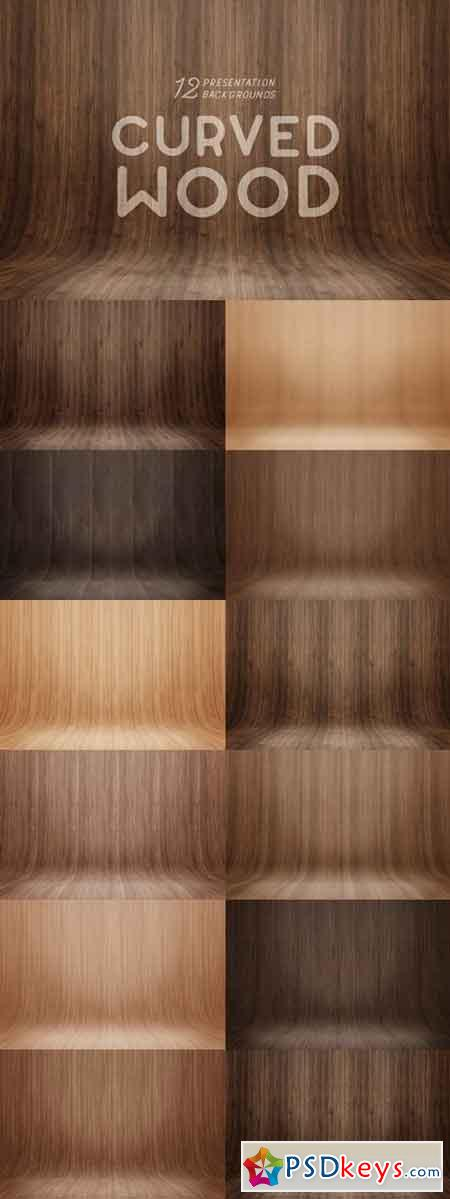Curved Wood Presentation Backgrounds 660976