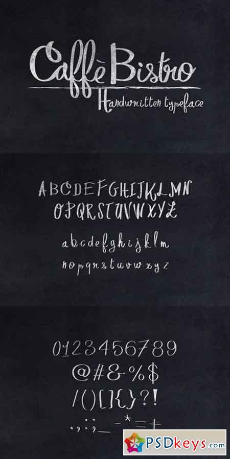 CaffèBistro Handwritten Typeface 654457