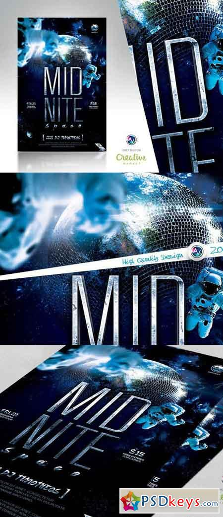 Midnite Space Flyer Template 83365
