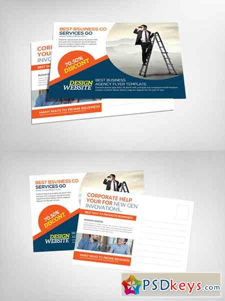 Corporate Business Postcard Template 632016