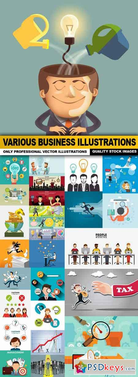 Various Business Illustrations - 25 Vector