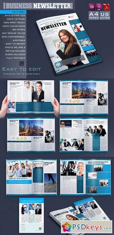 Business Newsletter   Free Download Photoshop Vector Stock