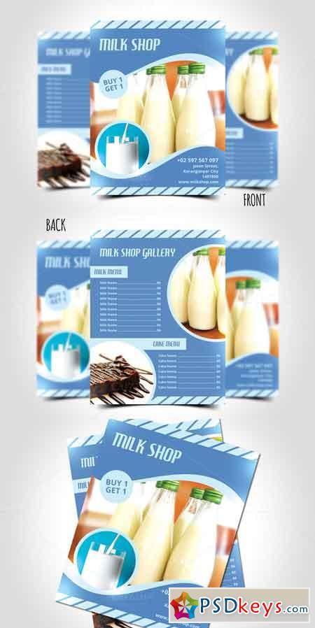 Milk Shop Flyer Template 660235