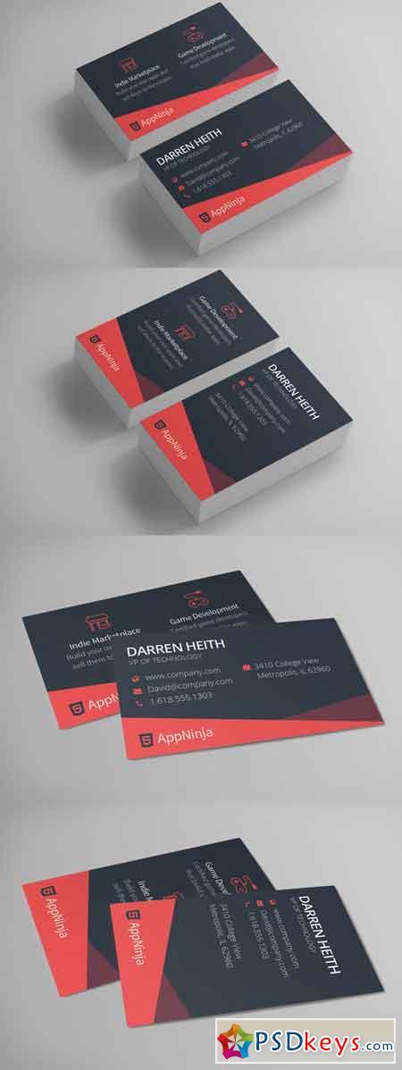 Sleek Business Card Template 660327