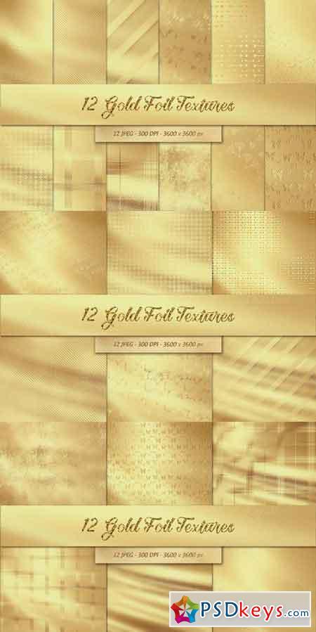 12 Gold Foil Textures 411787