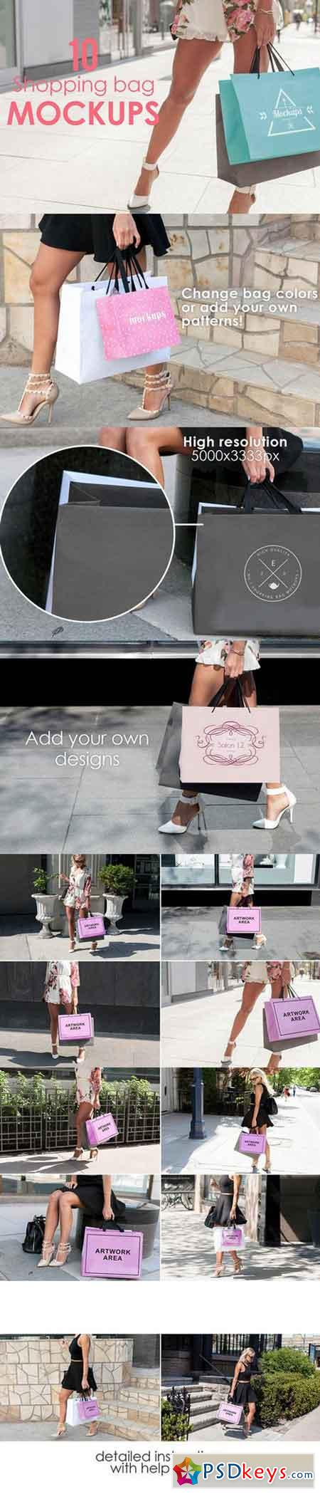 10 Shopping Bag Mockups 668819