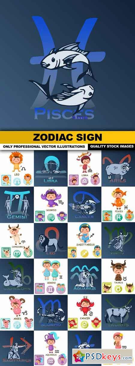 Zodiac Sign - 24 Vector