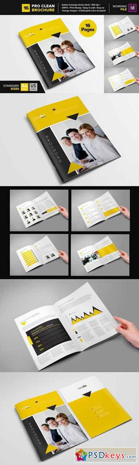 Clean Brochure Template 16 668839