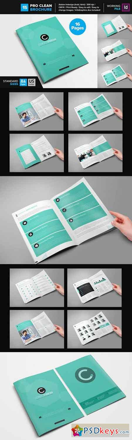 Clean Brochure Template 12 668808