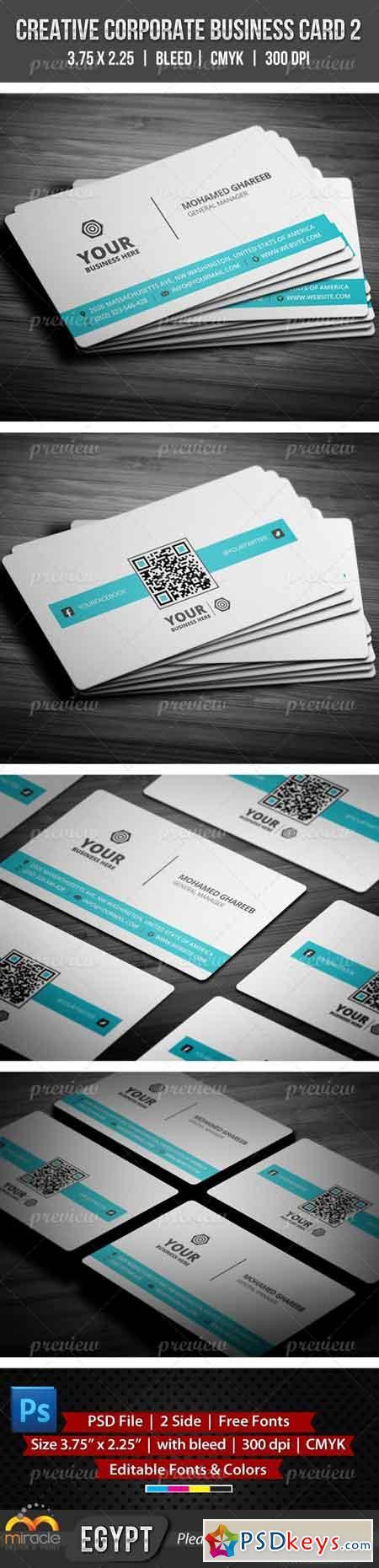 Creative Corporate Business Card 2 2060