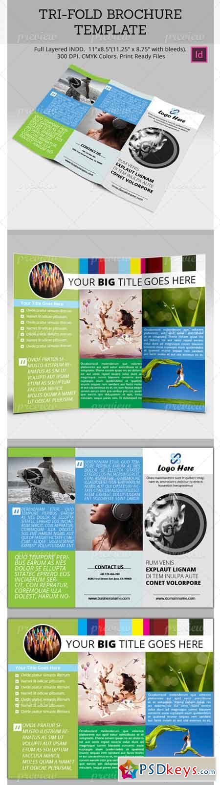 Tri fold brochure template 2049 free download photoshop for Free indesign tri fold brochure template