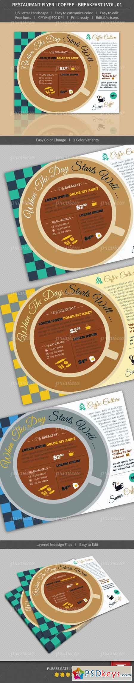Restaurant Flyer - Coffee Breakfast - Volume 01 4114