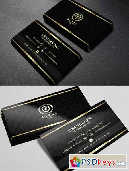 Gold and Black business card 40 Free Download