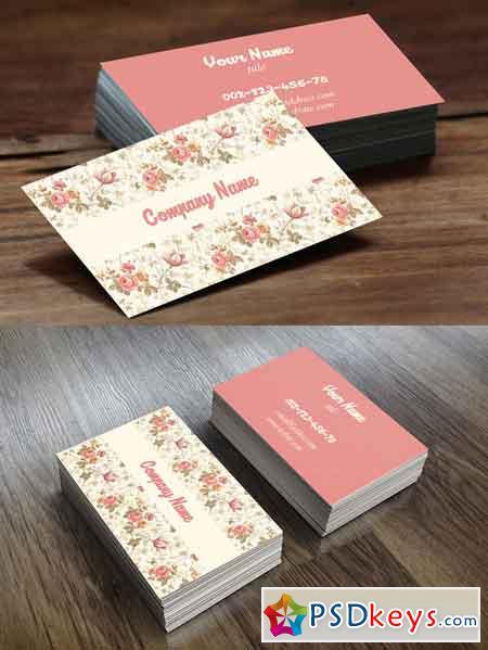 Vintage Flower Busness Card 672046